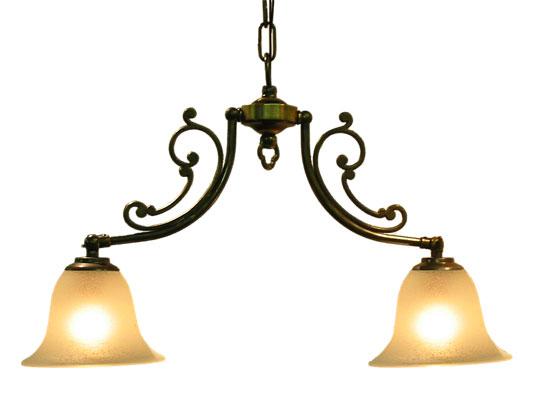 ■【アンティーク照明】CP20AB 416 (2灯ペンダントランプ) ペンダントライト 天井照明【アリスの時間】★