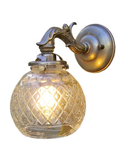 ■ 【アンティーク照明】W758A 091 ウォールランプ 【アリスの時間】★ブラケットライト アンティーク レトロ ガラス 人気 おしゃれ