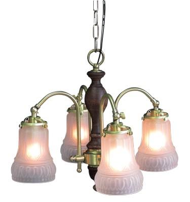 ■208G4 323(4灯ペンダントランプ)【サンヨウ アンティーク照明 4灯 シャンデリア アンティーク照明】★