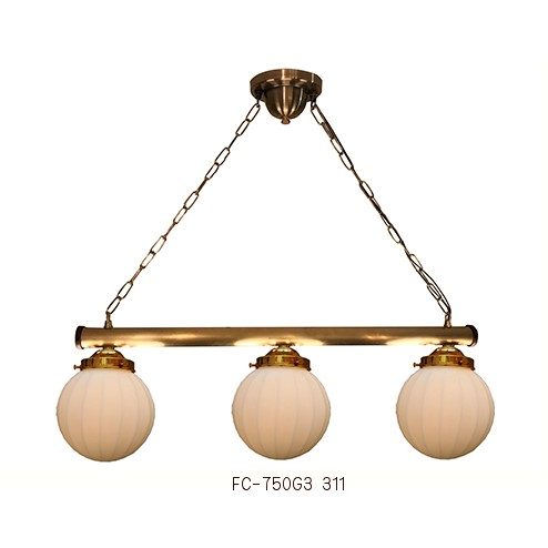 ■ 【アンティーク照明】サンヨウFC-750G3 311 (3灯ペンダントランプ)【アリスの時間】★