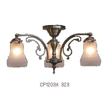 ■【アンティーク照明】サンヨウCP1203A 323(3灯ペンダントランプ)【アリスの時間】★