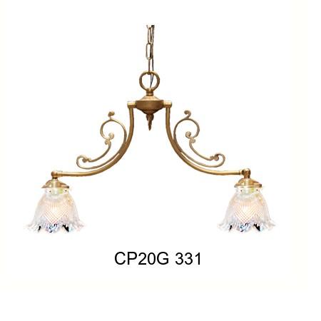 ■【アンティーク照明】CP20G 331 (2灯ペンダントランプ) ペンダントライト 天井照明【アリスの時間】★
