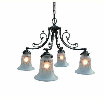 ■【サンヨウ アンティーク照明 4灯 シャンデリア アンティーク照明】CP40AB 314(4灯シーリングランプ) 【アリスの時間】★