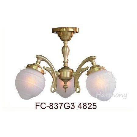 ■FC-837G 4825(3灯シャンデリアランプ)【サンヨウ アンティーク照明 3灯 シャンデリア アンティーク照明】 【アリスの時間】★