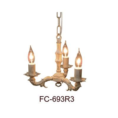 ■【アンティーク照明】【LED電球対応】FC-693R3(3灯シャンデリア) 【アリスの時間】★