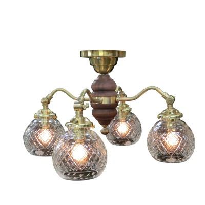 【アンティーク照明】【LED電球対応】SS1404GW 091(4灯シャンデリア) 【アリスの時間】★