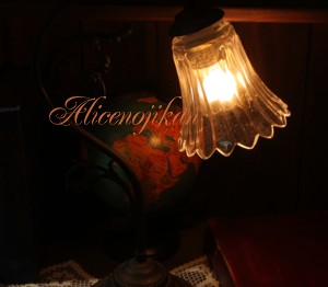 【アンティーク照明】【送料込】FC-600A 165 テーブルランプ 【アリスの時間】★