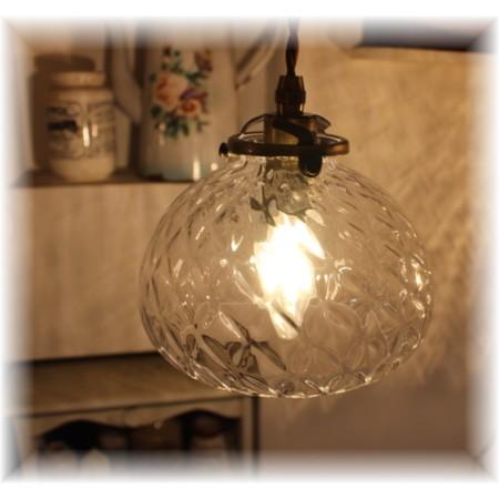 ■日本の職人ランプシェード クロスモールドーム (シェード+灯具)【日本製アンティーク照明】 【アリスの時間】★