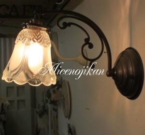 ■【アンティーク照明】 【送料無料】【LED電球対応】FC-W110AJ03ウォールランプ 【アリスの時間】★