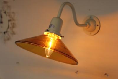【アンティーク照明】アンバーガラスシェードブラケットセット 【アリスの時間】★ブラケットライト アンティーク レトロ ガラス 人気 おしゃれ