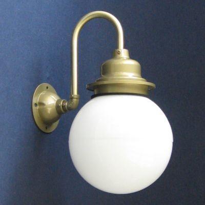 ■レトロアーチボール型外灯 海外限定 アンティーク照明 LED電球対応 防雨 ブランド買うならブランドオフ アーチ型レトロマリン外灯セットホワイト 防湿仕様