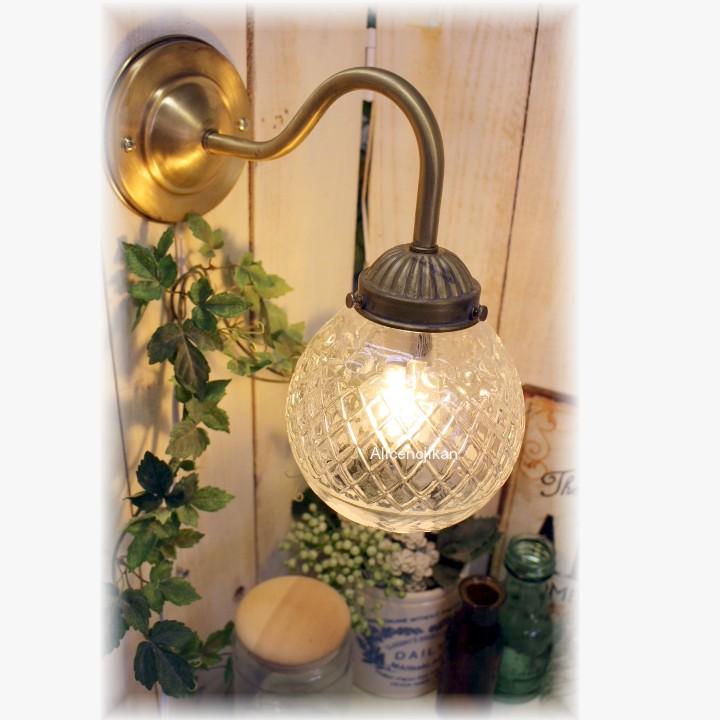 ■【即納 工事不要 アンティーク照明】HS532-091ウォールランプ 【アリスの時間】★ブラケットライト アンティーク レトロ LED コンセント おしゃれ ガラス