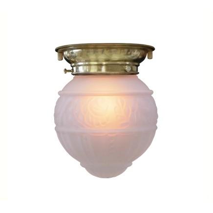 アンティーク照明】【LED電球対応】レトロ 4825【日本製 LED ガラス 天井付けシーリングランプFC-8018G