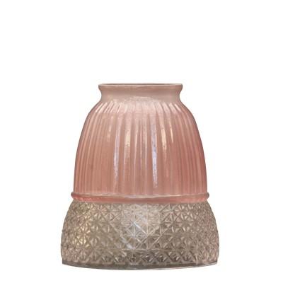 ■甘くないピンクが上品なガラスシェード アンティーク照明 宅配便送料無料 超激安 FC328 ピンクグレイス 横ねじ仕様シェード シェードのみ アリスの時間 照明 60mm