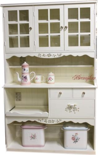■ロマンティックな 薔薇の食器棚 アリスローズ120 【送料無料】【アリスの時間】★