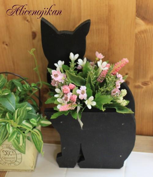 ■猫 国内正規品 ねこ ネコ キャット 好きならおすすめ オリジナルネコ雑貨 木製 アリスの時間 流行のアイテム ツールスタンド