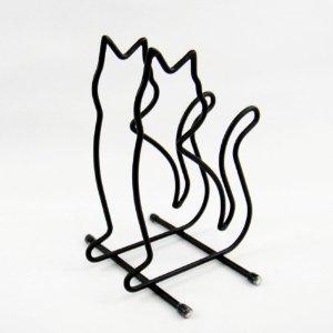 ■猫 2020新作 ねこ セール価格 ネコ キャット 好きならおすすめ アリスの時間 ネコ雑貨 ■ ブラック まな板スタンド