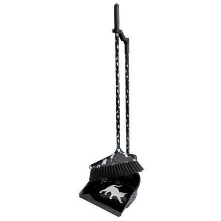 ■ネコ ねこ 猫のちりとりとほうきお掃除セット  ブルーム&ダストパン(L) ネコ ブラック【アリスの時間】★