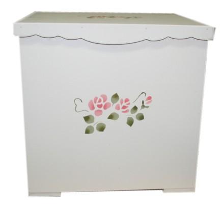 激安超特価 ■薔薇柄のふたつきボックス 直営ストア ■フリルキャニスターセゾンドローズ アリスの時間