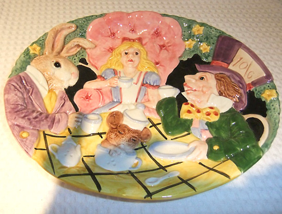 5 x points Wonderland Alice tea party plate 1992 tea party dish made of United States imports 05P05Oct15