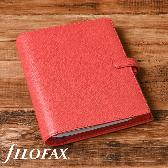 ファイロファックス filofax フィンスバリー Finsbury A5サイズ システム手帳 コーラル Coral ソフトグレインレザー ギフト プレゼント 贈り物 メンズ レディース