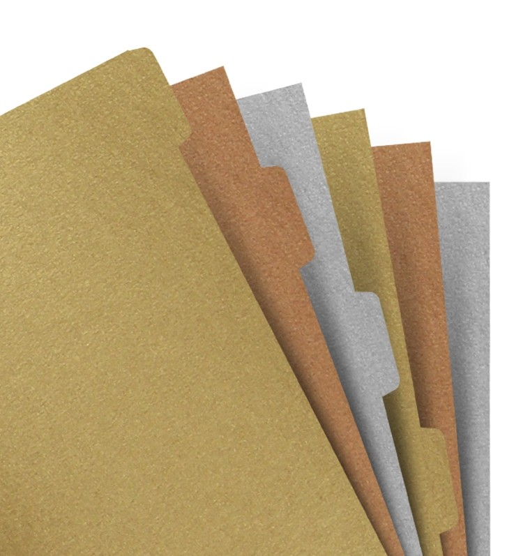 ファイロファックス filofax 発売モデル システム手帳 リフィル A5サイズ 人気 インデックス 6 Metallic Tabs Blank