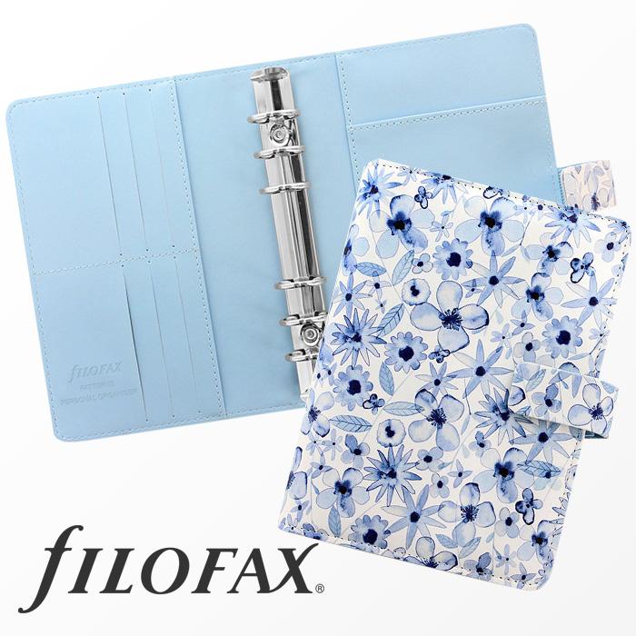 ファイロファックス filofax パターン Patterns バイブルサイズ IndigoFloral インディゴフローラル システム手帳 花柄 ギフト プレゼント 贈り物 メンズ レディース