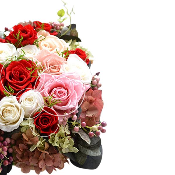 高さ66cmの豪華コンソール【芦屋テイスト】■超大輪バラ「プレミアムローズ」など20輪のバラを飾って【送料無料】