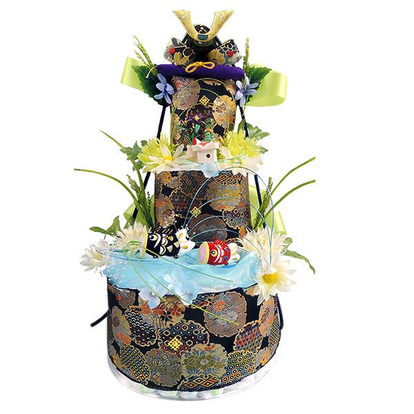 【おむつケーキ 端午の節句】限定品おむつケーキ【木製パズルプレゼント付】送料無料『源武』3段。ランキング受賞!お節句祝い,初節句に【レビューで、次回使える10%引クーポンをプレゼント!】和風【出産祝い ギフト SMTB】