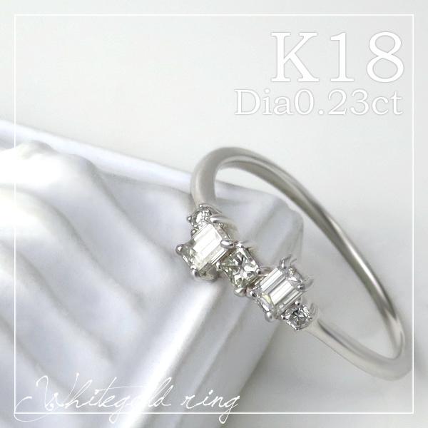 K18 ホワイトゴールド 天然 ダイヤモンド ハーフエタニティリング 5号~13号 18金 18k k18ゴールド レディース 女性 ゴールド ダイヤ エタニティリング リング 指輪 プレゼント 誕生日 記念日 ギフトBOX ジュエリー