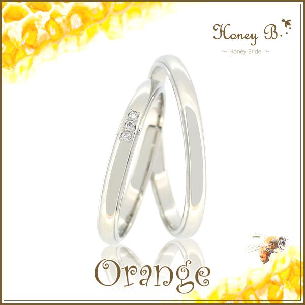ドラマ着用 結婚指輪 刻印無料 ペアリングHoney B-ハニーブライド- Orange ハニーブライダルコレクション Pt900 天然ダイヤモンド プラチナ900 マリッジリング レディース5号~15号 メンズ12号~22号 アリゼ HYG 記念日 ブライダル