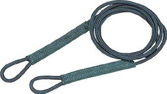 12mmX3m【物流保管用品】【吊りクランプ・吊りベルト】【ワイヤロープスリング】 TRUSCO セフティパワーロープ シンブルなし