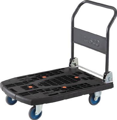 TRUSCO カルティオビッグ 折畳 900X600 黒【物流保管用品】【運搬台車】【樹脂製運搬車】