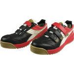 ディアドラ DIADORA 安全作業靴 ロビン 黒/白/赤 24.0cm【環境安全用品】【保護具】【作業靴】