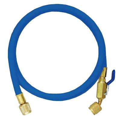 R410A用チャージングホースプラスII (ボールバルブ付) 244cm 青