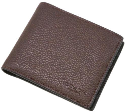 コーチ 22815-C1L 財布 メンズ 二つ折り 札入れ 取り外しカードケース 3-IN-1 ウォレット オックスブラッド/ブラック アウトレット COACH