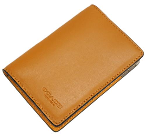 新品 本物 COACH アウトレット カードケース ご予約品 コーチ F79802-QBPL8 アンバーマルチ メンズ カードウォレット カラーブロック 供え 名刺入れ ヘザーグレー