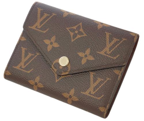 ルイヴィトン M62472 財布 ヴィトン モノグラム LV 三つ折り財布 小銭入れ付き ポルトフォイユ・ヴィクトリーヌ 新型 LOUIS VUITTON