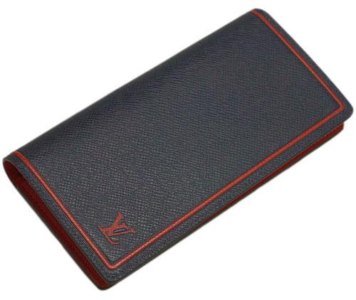 ルイヴィトン M63434 財布 ヴィトン タイガ LV メンズファスナー長札 16枚カード ポルトフォイユ・ブラザ ブルーマリーヌxレッド LOUIS VUITTON