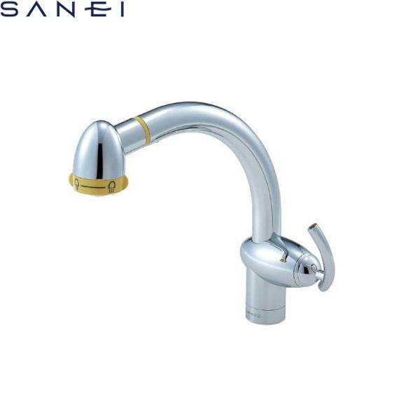 三栄水栓[SAN-EI]シングルワンホールスプレー混合栓K8742TJV[一般地仕様]【送料無料】