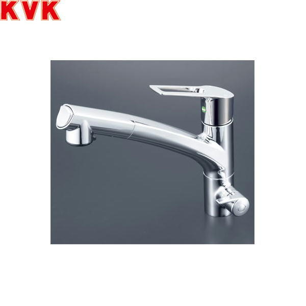 [KM5061NSCEC]KVK浄水器付シングルレバー式シャワー付混合水栓[Z38450付]【送料無料】