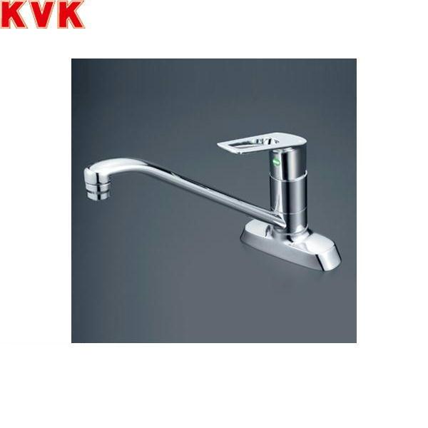 [KM5081TEC]KVK流し台用シングルレバー混合水栓[一般地仕様][取付穴ピッチ102mm]【送料無料】