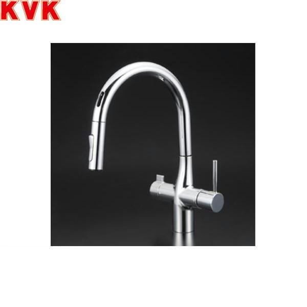 [KM6091EC]KVK浄水器専用シングルレバー式シャワー付混合水栓[センサー付][水栓本体のみ][送料無料]