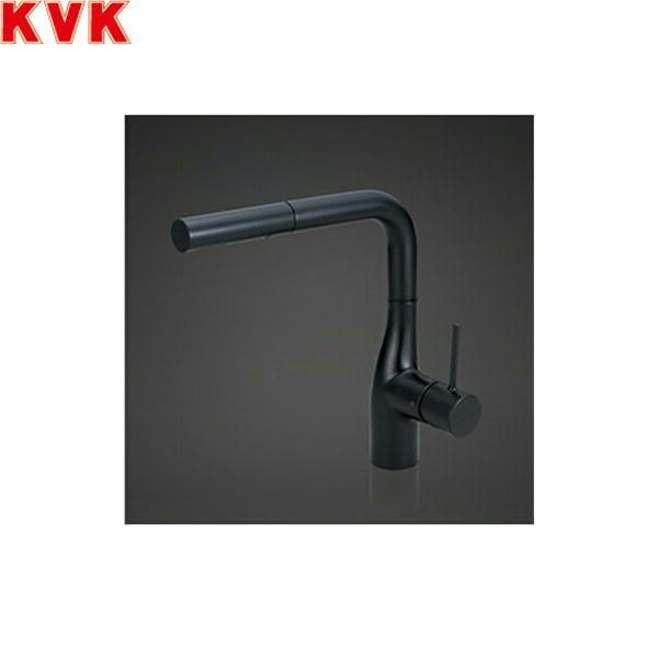 [KM6161ECM5]KVK流し台用シングルレバー式混合栓[eレバー/L形ホース引出しタイプ][送料無料]