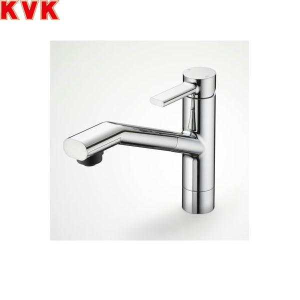 [KM908]KVK流し台用シングルレバー式シャワー付混合水栓[equal][一般地仕様]【送料無料】