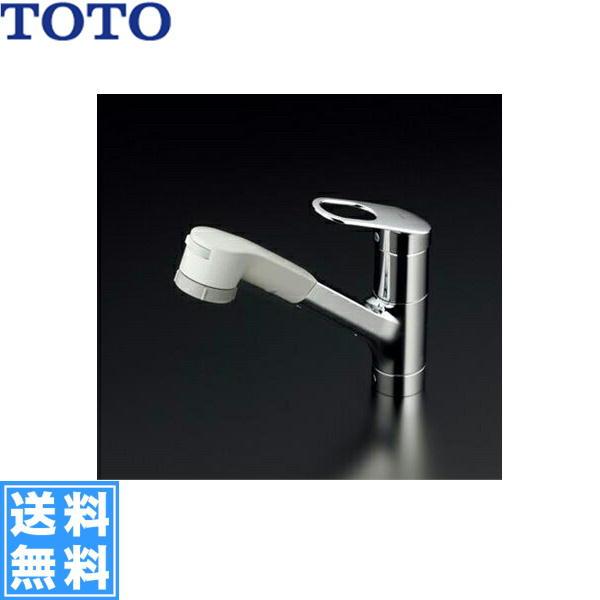 [TKGG32EB1SZ]TOTOキッチン用シングル混合水栓[台付き1穴][ハンドシャワー・吐水切り替えタイプ][寒冷地仕様]【送料無料】