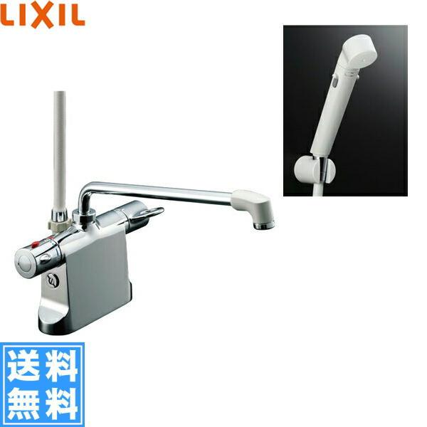 リクシル[LIXIL/INAX]シャワーバス水栓[サーモスタット・デッキタイプ][ビーフィットシリーズ][一般地仕様]BF-B646TSDW(300)-A85【送料無料】