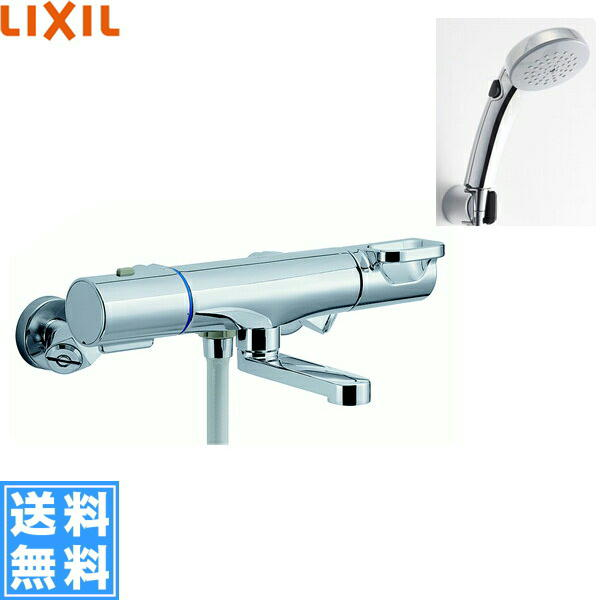 [BF-WM147TSCW]リクシル[LIXIL/INAX]シャワーバス水栓[サーモスタット][エコフルスイッチシャワー(メッキ仕様)][一般地仕様][送料無料]