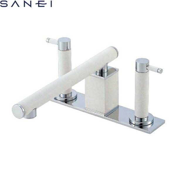 三栄水栓[SAN-EI]ツーバルブデッキ混合水栓(ユニット用)K91300K-L-JW[寒冷地仕様][送料無料]