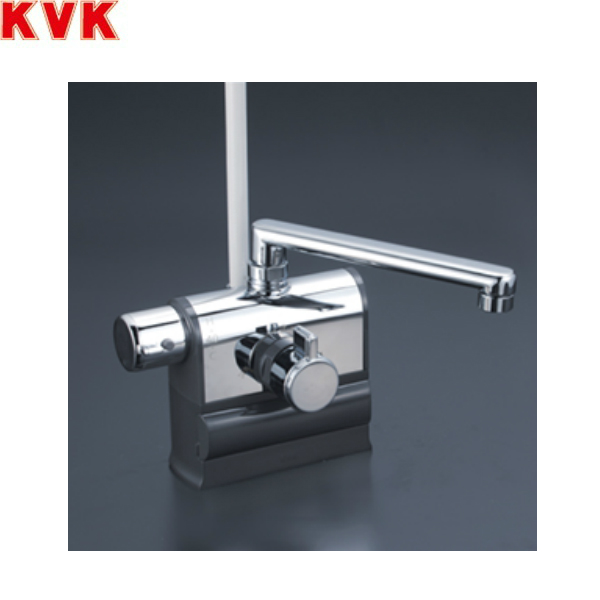 円高還元 [KF3008LR3]KVKデッキ形サーモスタット式シャワー[300mmパイプ仕様][可変ピッチ式][一般地・寒冷地共用]:みずらいふ-木材・建築資材・設備